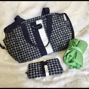 Kate Spade Stevie Diaper Bag w/ Matching Wallet